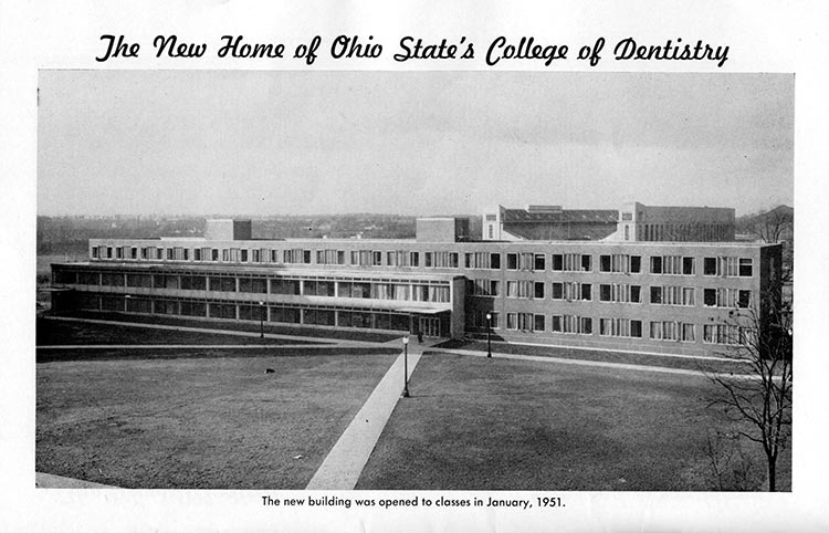 Postle Hall was open for classes in 1951