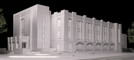 Model of Postal Hall Phase 1 replacement