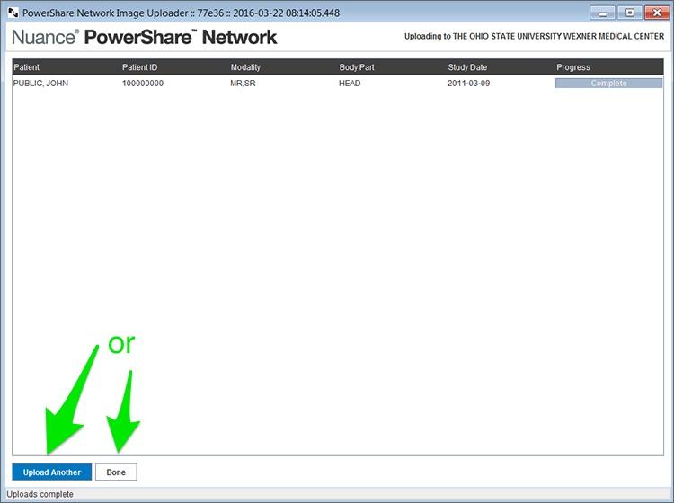 PowerShare finish upload